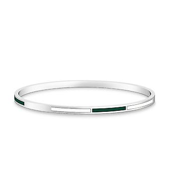 University Of Hawaii - Two-Tone Enamel Bracelet In Green And White