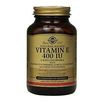 Solgar Vitamin E 268mg (400iu) Vegetarische Softgels 100 (3547)