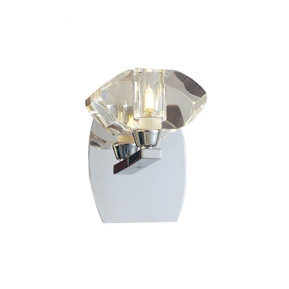 Mantra Alfa Wall Lamp Switched 1 Light G9, Polished Chrome