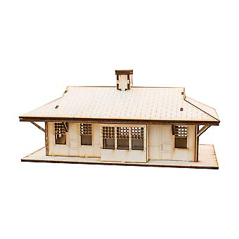 Crafts - train station - raw wood model kit