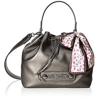 Love Moschino Bag Natural Grain Pu Bucket Women Grey (Fucile) 25x9x28 cm (W x H x L)