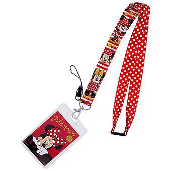 Minnie Mouse røde prikkede Lanyard