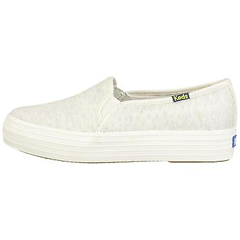 Keds Womens Rifle Paper Suede Low Top Slip On Fashion Sneakers