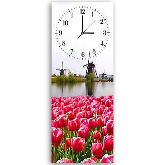Decorative clock with hanger, Netherlands landscape