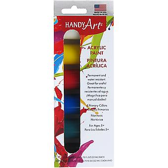 Handy Art Acrylic Paint Kit .75oz 6/Pkg-Primary 881-215J