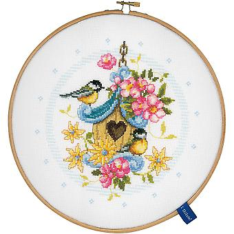 Our Bird House On Aida Counted Cross Stitch Kit-8