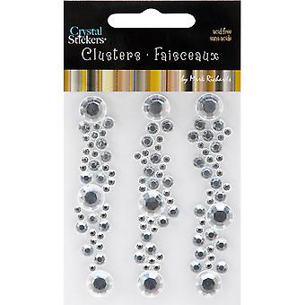 Crystal Cluster Stickers 3 Pkg Round Clear Crycs 5451