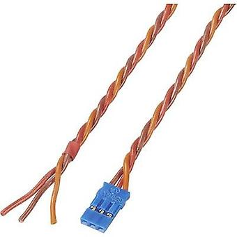 Servo Cable [1x JR socket - 1x Open end] 300 mm 0.35 mm² Silicon Modelcraft