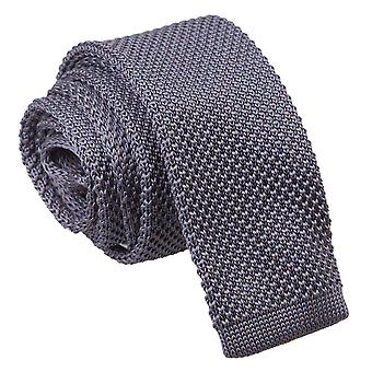 Knitted Charcoal Tie