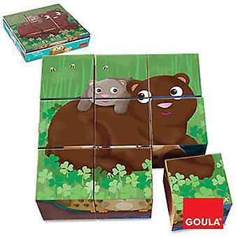 Goula 9 cubes Forest Animals (Toys , Preschool , Puzzles And Blocs)