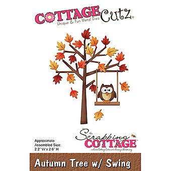 CottageCutz Die-Autumn Tree W/Swing, 2.2