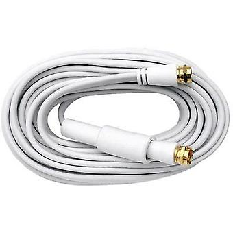 SAT Cable [1x F plug - 1x F plug] 10 m 75 dB gold plated connectors White Axing