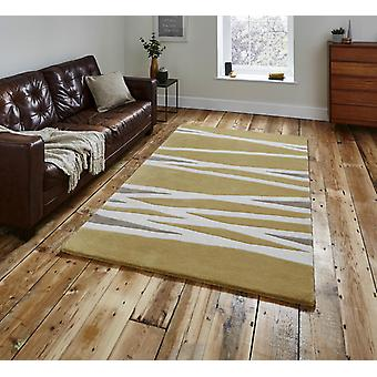Think Elements EL61 Yellow  Rectangle Rugs Plain/Nearly Plain Rugs