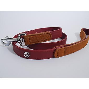 Luxus Leder führen Soft Touch Rot 3/4