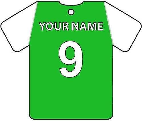 Personalised Hibernian Football Shirt Car Air Freshener