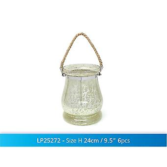 Glass Lantern Hanging Tea light Candle Holder Home Decoration