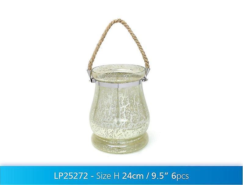 Glass Lantern Hanging Tea light Candle Holder Home Decoration