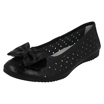 Ladies Down To Earth Flat Comfort Ballerinas F80207