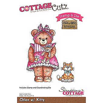 CottageCutz Stamp & Die Set-Chloe With Kitty CCS028