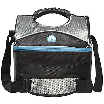 IGLOO MaxCold Gripper 16 Can Lunch Box - Black/Silver/Blue
