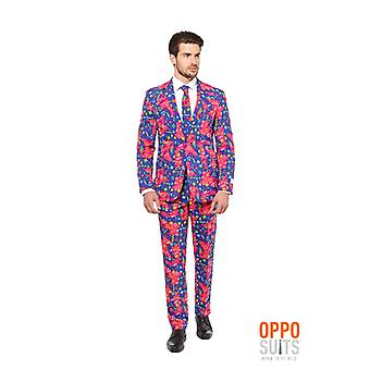 Opposuit fresh Prince bright 80s 90s suit slimline Premium 3-piece set