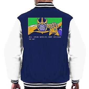 あなたの世界は、すべて私はサノス ゼロ翼人のバーシティ ジャケットに属しています。