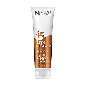 Revlon Revlonissimo 45 Days 2in1 Shampoo & Conditioner Intense Coppers 275ml