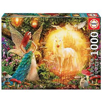 Educa Puzzle Peacock Feather Fairy 1000 Pieces (Spielzeuge , Brettspiele , Puzzles)