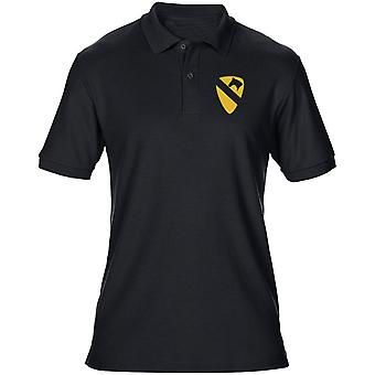 US Army 1st Cavalry insignier broderad Logo - Mens Polo Shirt