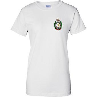 MOD con licencia - ejército británico Ingenieros reales insignias - señoras pecho diseño t-shirt