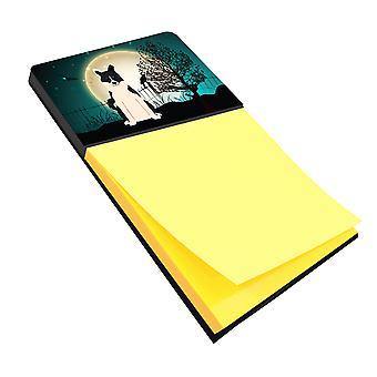 Halloween Scary Russo-European Laika Spitz Sticky Note Holder