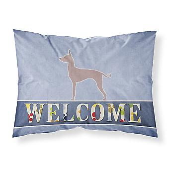 Dogo Argentino Welcome Fabric Standard Pillowcase