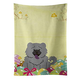 Carolines Treasures  BB6139KTWL Easter Eggs Chow Chow Blue Kitchen Towel