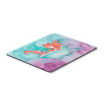 Rabbit and Squirrel Bathing Watercolor Mouse Pad, Hot Pad or Trivet