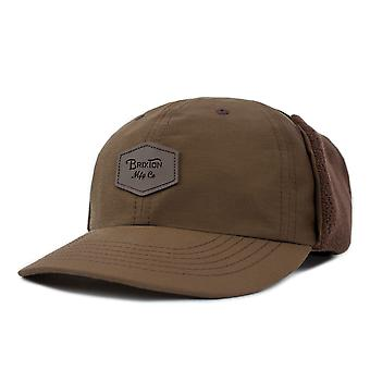 Brixton Trig Ear Flap Cap Brown