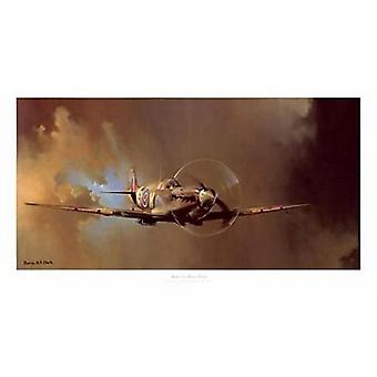 Spitfire Poster Print by Barrie Clark (36 x 18)