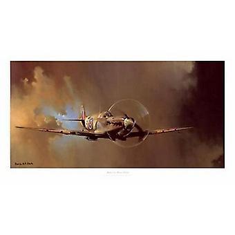 Impresión del cartel de Spitfire por Barrie Clark (36 x 18)