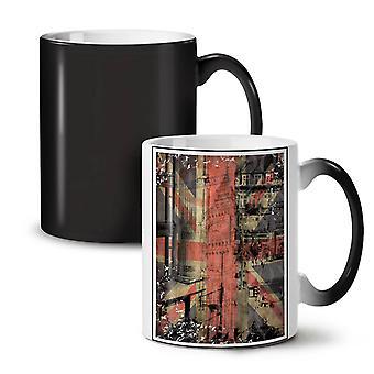 London City England NEW Black Colour Changing Tea Coffee Ceramic Mug 11 oz | Wellcoda