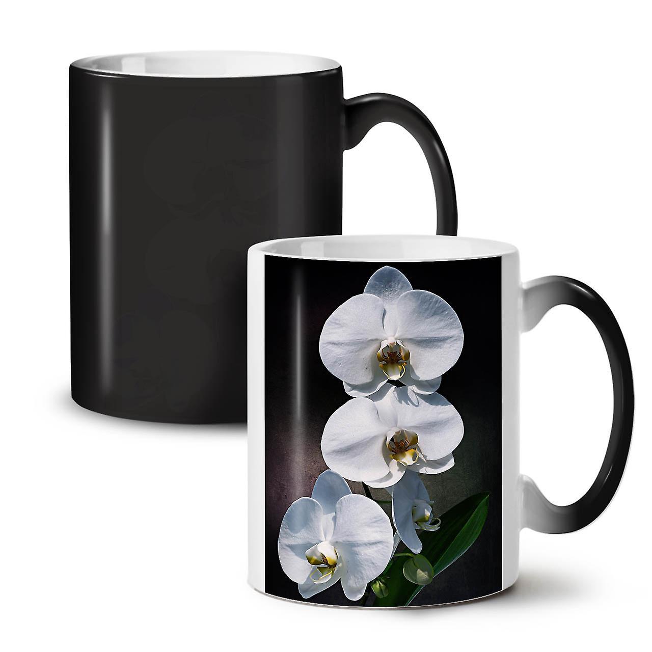 Blanc Nouveau 11 De Céramique Art Noir Café Tasse Changeant Couleur Thé Fleur OzWellcoda XPTZiOuk