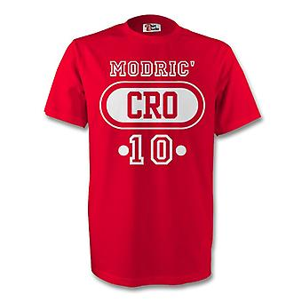 Luka Modric Croatia Cro T-shirt (red)