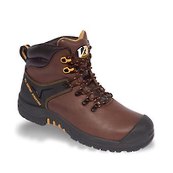 V12 VR601 Cougar Brown Waxy Hiker Boot EN20345:2011-S3 Size 7