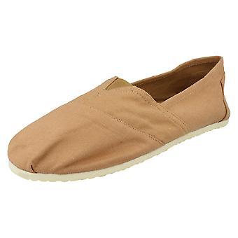 Mens Zig Zag Flat Slip On Casual Shoes