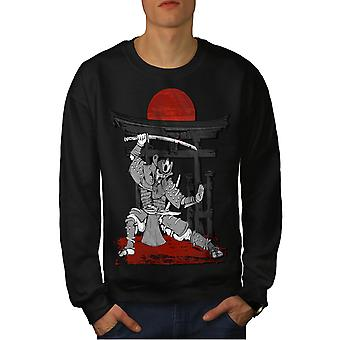 Japanese Fight Dance Men BlackSweatshirt | Wellcoda