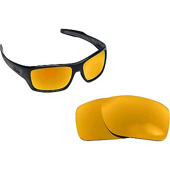 Best SEEK Polarized Replacement Lenses for Oakley TURBINE Gold Mirror