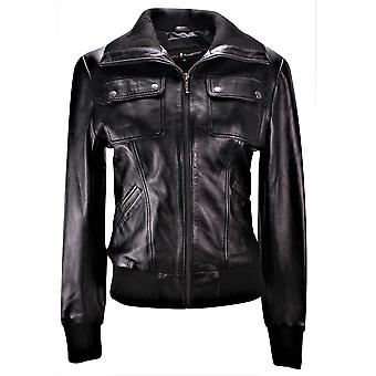 Acromen Bombers Jacket With A Short Low Cut