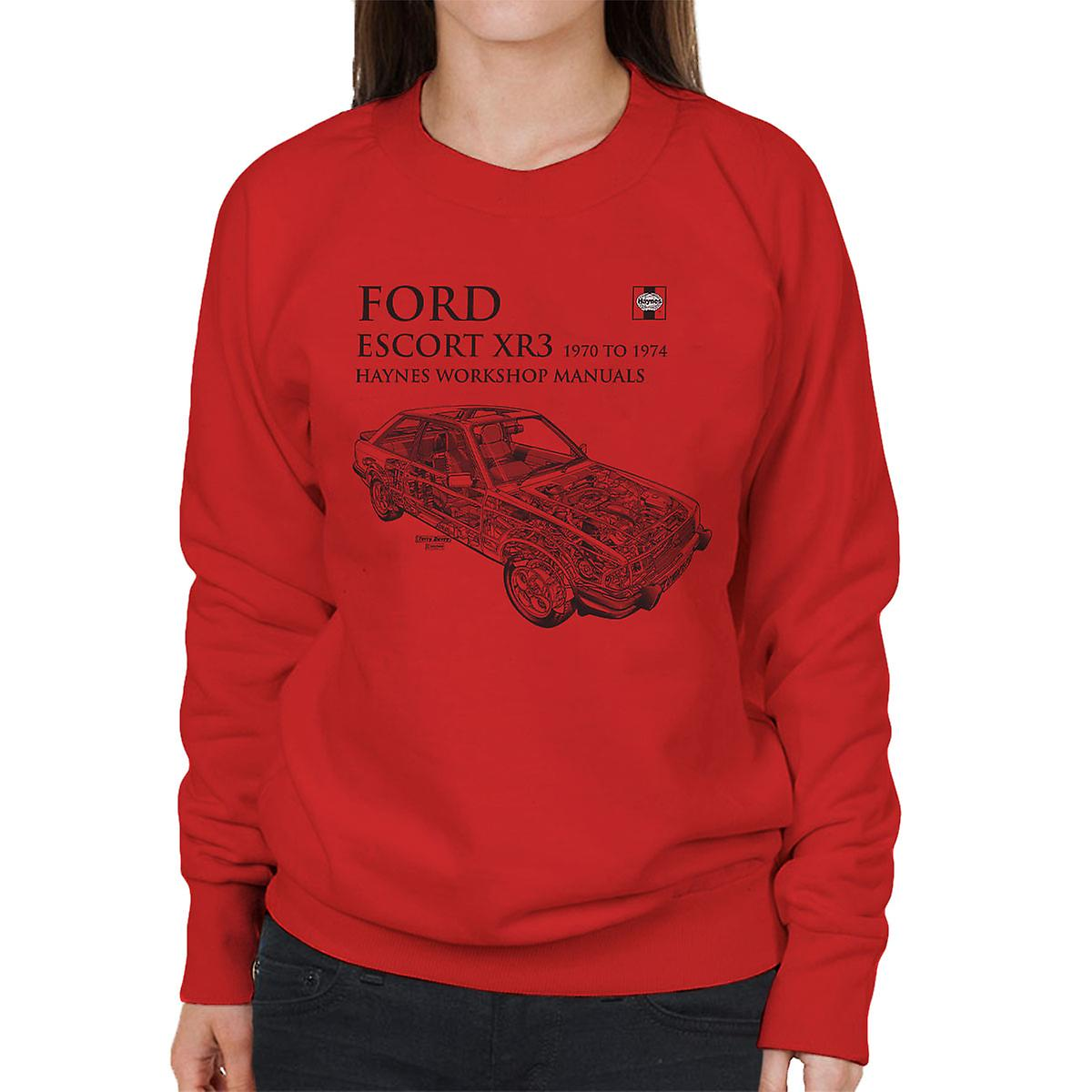 Haynes Owners Workshop Manual 0686 Ford Escort XR3 Black Women's Sweatshirt