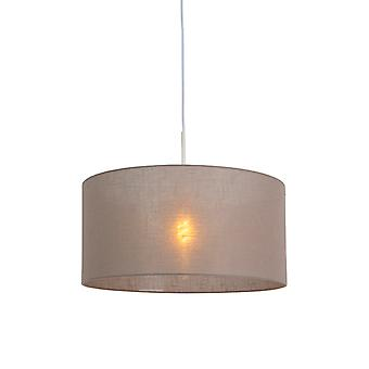 QAZQA Modern Pendant Lamp White with 50cm Taupe Shade - Combi 1