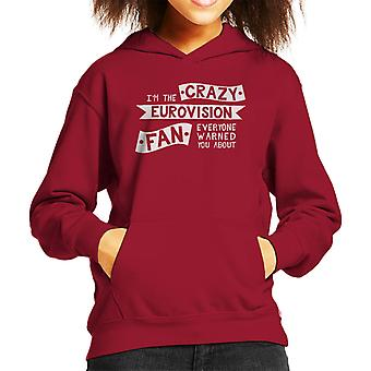 Crazy Eurovision Fan Kid's Hooded Sweatshirt