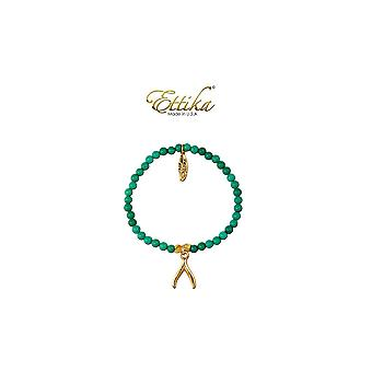 Ettika - Bracelet Stretch boom in gold and Turquoise beads