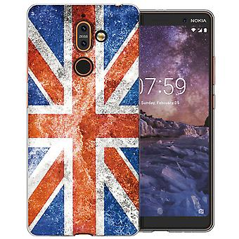 Nokia 7 плюс ретро Юнион Джек флаг гель ТПУ